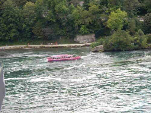 Rheinfall - Das pink Schifflein