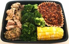 Summer Bento (Cathryn3) Tags: bento lunch chicken herbesdeprovence broccoli corn cobbaked beans bacon