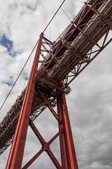 Suspension bridge '25 de Abril' - 50 years! (ernst schade) Tags: 25deabrilbridge lisboa lisbon lissabon portugal taag tagus tejo bridge brug river rivier traffic transport travel lisbonlissabon