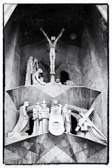 Detail - Sagrada Familia (Keith (M)) Tags: spain barcelona sagradafamilia cathedral statues stonework monochrome religion gaudi catalonia