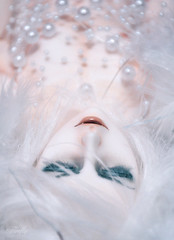 White demon (Lorena Firefly) Tags: immortalityofsoul ios co doll dollfie demon bjd boy balljointeddoll white whitefox whitehair fox pure blue fangs pearls feathers