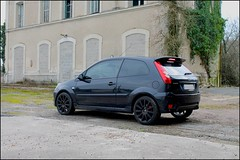 Ford Fiesta ST 150 (SP-98) Tags: auto black france hot ford love cup look car st race canon fun eos team fiesta young style right voiture racing course 150 plaisir compact cosworth duratec hatches mk6 worldcars athmo