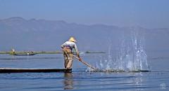 Life on Inle Lake (jennifer.stahn) Tags: travel lake fisherman nikon asia asien jennifer burma fisher myanmar inle birma mandalay reise bagan stahn d7000