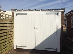 New timber doors installed in Peacehaven. March 2015