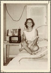 Poor But Happy...My Wife..Age 12 (Denzil D) Tags: childhood youth grandmother poor oldhouse missouri wife ruralamerica rurallife metalbed youngpaula elmermissouri antiqueradiio