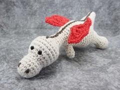 Baby dragon rattle toy (muustare) Tags: red baby cute soft dragon handmade crochet yarn softie cotton organic etsy amigurumi crocheted teether rattle babytoy ecru babyrattle bymarika handmadebymarika