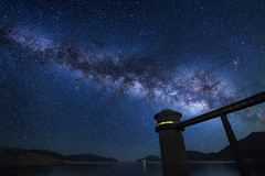 A night with the stars (Ateens Chen) Tags: longexposure lake nature night landscape hongkong star nikon nightscape ateens milkyway carlzeiss d810 zf2 distagont2815