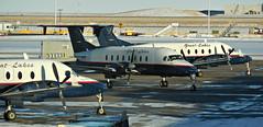 Great Lakes Aviation (kenjet) Tags: airport ramp den dia denverinternationalairport denver greatlakes 1900 commuter fleet beechcraft beech turboprop 1900d beech1900d beechcraft1900d greatlakesaviation n251gl n253gl