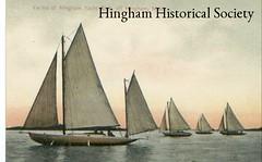 Yachts on Hingham Harbor (Old Derby) Tags: sailboat boats boat picnic yacht massachusetts postcard recreation yachts sloop hingham sailingyacht yawl hinghamharbor gaffrig hinghamyachtclub hinghamhistoricalsociety