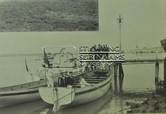 Marinetrap met sloepen