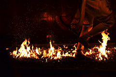 Dancing on the flames (Karol Photoworld) Tags: show red fire dangerous darkness flames running run flame srilanka tradition coal emotions coals