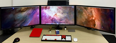 Desktop - Early 2015 (Bob Jouy) Tags: desktop 2 apple mac desk air pro setup asus klipsch 4k groot ipad uhd wasdkeyboards pb287q