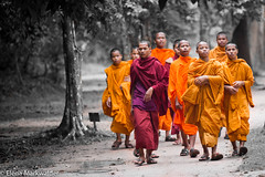 To temple (emarkwalder) Tags: cambodia happiness monk monks serenity angkor buddism