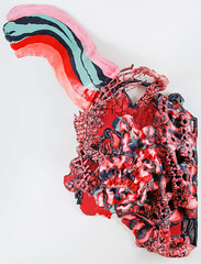 rooty-toot-toot_web (Daniel Wiener) Tags: color face mask contemporaryart onthewall 2015 contemporarysculpture wallrelief facessculpture apoxiesculpt