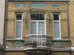 Ons Genoegen - Our Pleasure (streamer020nl) Tags: brick fence mosaic balcony balkon bricks 1912 pleasure anno mozaiek metselwerk onsgenoegen balkonhek gallifortlei