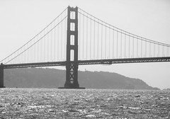 Monochromatic Golden (jglsongs) Tags: sanfrancisco california ca bridge blackandwhite monochrome bay waterfront goldengatebridge goldengate sanfranciscobay