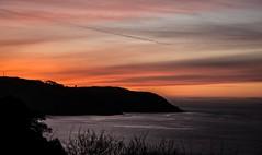 Bouley Bay sunset (Lee1885) Tags: sunset sea water night dark bay nikon jersey channelislands d7100