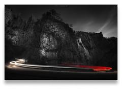 Horseshoe II (Scott Howse) Tags: road uk england cars night nikon rocks dusk somerset cliffs gorge lighttrails nikkor cheddar mendips cheddargorge mendiphills leefilters 09nd 1635f4 d800e