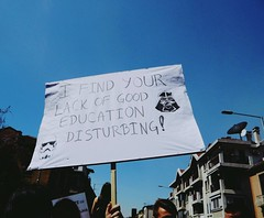 Protest in Skopje (slazovska) Tags: city school students high education protest macedonia skopje contry