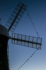 Holgate Windmill at sunset - decorated for the Tour de Yorkshire (3)