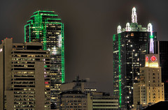 Dallas Skyline (WarEagle8608) Tags: nightphotography building green tower skyline night america skyscraper canon eos rebel dallas high kiss neon texas dynamic bank led clear boa national range argon renaissance hdr highdynamicrange att x4 mercantile bankofamericatower boatower dallasskyline bracketed renaissancetower 550d atttower hdrnight t2i dallasatnight mercantiletower dallashdr whitacretower eoskissx4 mercantilenationalbankbuilding canoneos550d dallasskylineatnight eos550d canoneosrebelt2i rebelt2i canoneoskissx4 eosrebelt2i bankofamericatowerdallas