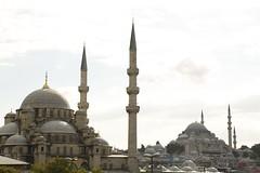 Yeni cami ve Sleymaniye (sekerciozkan) Tags: new old city sea cloud bird ferry turkey trkiye istanbul mosque cami deniz vapur metropol sleymaniye fatih boaz bulut gkyz ku mart yenicami bosphoros ehir konstantinopolis