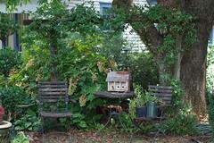 Chairs and Vases (ChristianRock) Tags: pentax ks1 ricoh rikenon p 50mm 50 f14 14 114 downtown norcross georgia ga