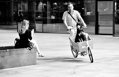 Doggie Pedal (jaykay72) Tags: london uk street candid streetphotography londonist bishopssquare stphotographia blackandwhite bw