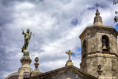 Mare de Deu de la Merce (rossendgricasas) Tags: sky religion clouds architecture urban exploration hdr nikon barcelona catalonia tamrom merc baslica baslicadelamerc