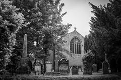 The Churchyard B&W (Charlie Little) Tags: church graveyard grave stone bw sony a6000 cumbria carlisle trees