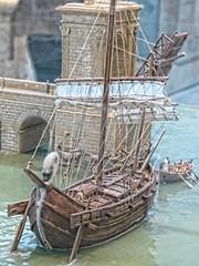 Model of a Roman cargo vessel at the Muse de l'Arles Antique in Arles, France (mharrsch) Tags: ship boat vessel sail sailingvessel roman ancient arles arelate exhibit musedelarlesantique france mharrsch