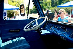 Ford Econoline (Interior) (mister_hashtag) Tags: larz anderson car auto automobile vehicle museum american usa day 2016 ford econoline superman blue cargo passenger truck cabover interior