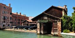 DSC_0115 (bikerchisp) Tags: venice italy ital italia venise canals lagoon bridges gondola holiday vacation europe adriatic sea water waterways streets blue sky bluesky sunshine bikerchisp