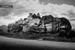Closer to heaven (owdtwobad) Tags: lanscape nature outdoors monochrome religion ascetic blackandwhite meteora greece travel photography
