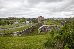 The ditch between the curtain wall and the musket gallery at the Halifax Citadel (Jim 03) Tags: star shaped fortress citadel fort george 1856 smoothbore weaponry rifled jim jim03 jhoffman jimhoffman wwwjimahoffmancom wwwflickrcomphotosjhoffman2013 halifax nova scotia historical