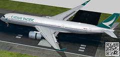 Airbus A350-900 XWB Cathay Pacific (paperscan) Tags: game 3d airport pacific jet scene 350 airbus cathay turbine xplane fsx a350 prepar a350900