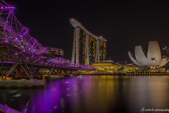 Helix Bridge, Singapore (karthick.grandeur) Tags: bridge night marina canon bay nice singapore ngc helix sg tamron 6d 2470