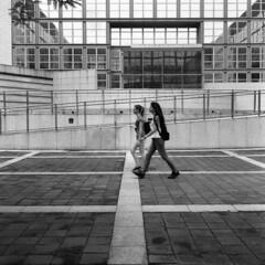 Milano (Valt3r Rav3ra - DEVOted!) Tags: street people blackandwhite bw 120 6x6 film rolleiflex university milano universit streetphotography persone bicocca ilforddelta400 biancoenero analogico urbanvisions medioformato milanobicocca visioniurbane valt3r valterravera