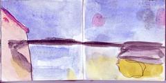 in der Stadt waren die Lichter angegangen, am Himmel wrden sie bald folgen. Wer wollte da den berblick behalten (raumoberbayern) Tags: sketchbook skizzenbuch tram munich mnchen bus strasenbahn herbst winter fall pencil bleistift paper papier robbbilder stadt city landschaft landscape