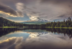 Trillium Lake, Oregon (shalabh_sharma7) Tags: trilliumlake lake oregon mounthoodnationalforest mounthood mountain water sunset national nationalforest reflection trees clouds bravo