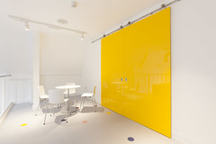 Altro Showroom London 2016-Altro resins-Altro Whiterock White-Altro Whiterock Chameleon-Altro Whiterock doorset-23 (Altro USA) Tags: whiterock white walls showroom retail resin grey generalareas chameleon yellow