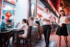 Chinatown (Jon Siegel) Tags: nikon d810 sigma 24mm sigma24mmf14art 24mmf14 14 urban city night evening man woman boy girl walking chinese singapore singaporean chinatown neon restaurant people candid singaporect