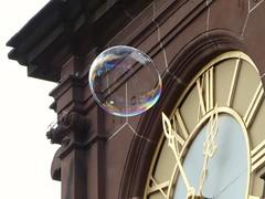 Bubble time                             'in Explore' (peeteninge) Tags: time outdoor bubble klok bellen tijd