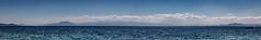 Pagaasitikos Bay, East Coast of Greece (RCARCARCA) Tags: panorama volos beach silhouette koropi mountains pagaasitikosbay sea reflections 5diii sunlight 2016 greece canon clouds