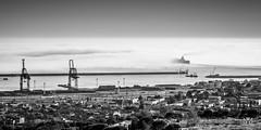Sea of clouds (Laurent VALENCIA) Tags: port canon marseille noiretblanc nb provence nuage bateau brouillard navigation brume ferrie magie seaofclouds portautonome 50mpx entresmaritimes 5dsr