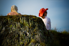 Chewing the Fat (Celebrating over 2 million views. Thank you) Tags: friends summer hat smiling rock wales moss looking view talking chatting bala admiring