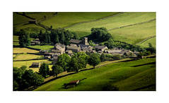 Muker in Miniature (muddybootsuk) Tags: muker swaledale tiltshift miniature yorkshire village rural fields green northern england greatbritain landscape kisdon kisdonhill
