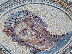 Roman figural mosaic found in Arles, France Roman 1st century BCE - 4th century BCE (mharrsch) Tags: mosaic pavement woman female figural polychrome roman ancient arles arelate exhibit musedelarlesantique france mharrsch