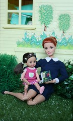 IMG_6939 (irinakopilova) Tags: barbie made move baby kelly tommy nikki little sister small doll red hair summer