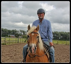 Hup te paard (gill4kleuren - 12 ml views) Tags: me gill horse riding saar sarah haflinger fun